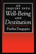 Cover for An Inquiry into Well-Being and Destitution