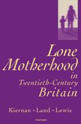 Cover for Lone Motherhood in Twentieth-Century Britain