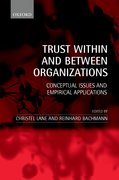 Cover for Trust within and between Organizations