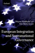 Cover for European Integration and Supranational Governance