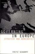 Cover for Governing in Europe