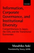 Cover for Information, Corporate Governance, and Institutional Diversity