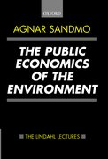 Cover for The Public Economics of the Environment