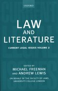 Law and Literature Current Legal Issues Volume 2