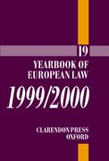Cover for Yearbook of European Law