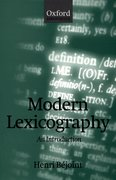 Cover for Modern Lexicography