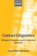 Cover for Contact Linguistics