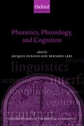 Cover for Phonetics, Phonology, and Cognition