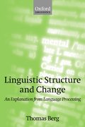 Cover for Linguistic Structure and Change