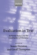 Cover for Evaluation in Text