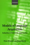 Cover for Models of Language Acquisition