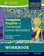 Cover for Complete English for Cambridge Secondary 1 Student Workbook 7