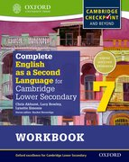 Cover for Complete English as a Second Language for Cambridge Lower Secondary Workbook 7 & CD