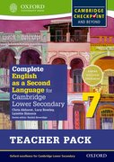 Cover for Complete English as a Second Language for Cambridge Secondary 1 Teacher Pack 7 & CD