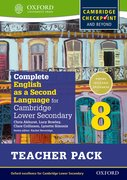 Cover for Complete English as a Second Language for Cambridge Secondary 1 Teacher Pack 8 & CD