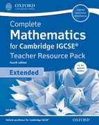 Cover for Complete Mathematics for  Cambridge IGCSERG Teacher Resource Pack & CD (Extended)