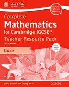 Cover for Complete Mathematics for Cambridge IGCSERG Teacher Resource Pack & CD (Core)