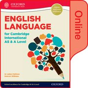 Cover for English Language for Cambridge International AS and A Level Online Student Book