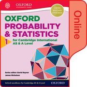 Cover for Mathematics for Cambridge International AS and A Level Statistics 1 Online Student Book