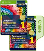 Cover for Complete Mathematics for Cambridge Secondary 1 Book 1