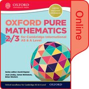 Cover for Mathematics for Cambridge International AS and A Level Pure Mathematics 2 & 3 Online Student Book