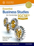 Cover for Essential Business Studies for Cambridge IGCSERG Student Book