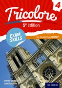 Cover for Tricolore 5e edition Exam Skills for Cambridge IGCSERG Workbook & CD-ROM