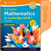 Cover for Complete Mathematics for Cambridge IGCSERG Online Book (Extended)