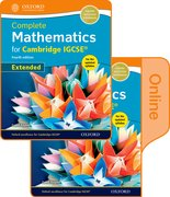 Cover for Complete Mathematics for  Cambridge IGCSERG Online & Print Student Book Pack (Extended)