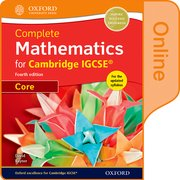 Cover for Complete Mathematics for Cambridge IGCSERG Online Student Book (Core)