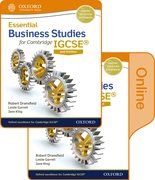 Cover for Essential Business Studies for Cambridge IGCSERG Print and Online Student Book Pack
