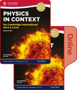 Cover for Physics in Context for Cambridge International AS & A Level Print and Online Student Book Pack