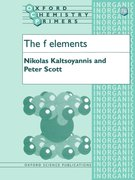 Cover for The f Elements