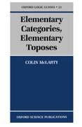 Cover for Elementary Categories, Elementary Toposes