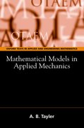 Cover for Mathematical Models in Applied Mechanics