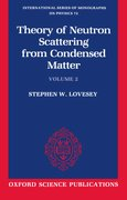 Cover for The Theory of Neutron Scattering from Condensed Matter