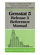 Cover for Genstat 5 Release 3