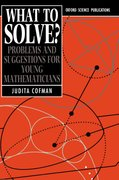 Cover for What To Solve?