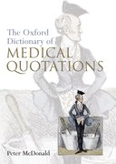 Cover for Oxford Dictionary of Medical Quotations