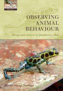 Observing Animal Behaviour Design and analysis of quantitative data