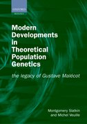 Cover for Modern Developments in Theoretical Population Genetics