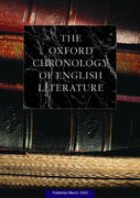 Cover for The Oxford Chronology of English Literature