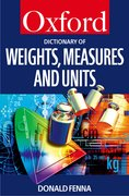 Cover for A Dictionary of Weights, Measures, and Units