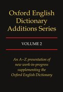 Cover for Oxford English Dictionary Additions Series