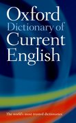 Cover for Oxford Dictionary of Current English