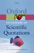 Cover for Oxford Dictionary of Scientific Quotations