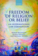Cover for Freedom of Religion or Belief