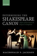 Cover for Determining the Shakespeare Canon