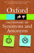 Cover for The Oxford Dictionary of Synonyms and Antonyms