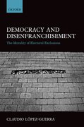 Cover for Democracy and Disenfranchisement